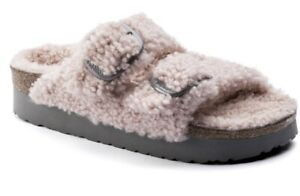 NEW IN BOX BIRKENSTOCK PAPILLIO TEDDY Crystal Rose Arizona Big Buckle Sandals 36