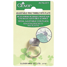 Clover Adjustable Ring Thimble with Plate [CL611]