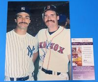 WADE BOGGS SIGNED 8x10 PHOTO ~ w/ Don Mattingly ~ JSA T05465