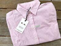 RM Williams Womens Regular Fit Nicole Short Sleeve Button Up Shirt Pink Size 8