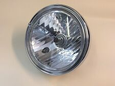 """Universal Chrome 7"""" Motorcycle Headlight E-Marked Streetfighter Cafe Racer H4"""
