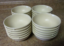 "24 Vintage Prolon Ware tan Bowls 4 3/4""  Diameter melamine plastic cafeteria USA"
