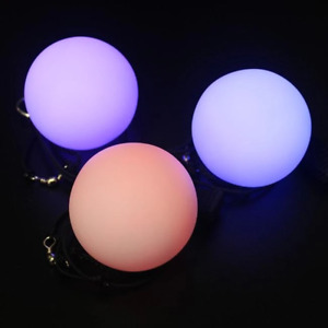 Poi LED Balls x 2 Festival Party Cosplay Glowing Colour Changing Flashing Balls