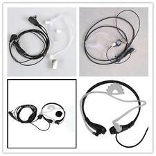 Throat Mic Earphone Earpiece Headset Headphone K Finger For Baofeng UV-5R Radio{