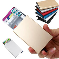 Card Holder Stainless Steel Aluminium Credit Card Case Wallets Mens ID Card Box