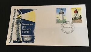 New Zealand 1976 Fdc  Government Life Insurance Stamps