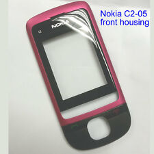 100% Genuine Original Nokia C2-05 Front with Lens Panel Fascia Housing - Pink