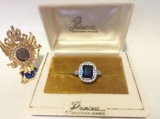 Princess 2.25 tcw Royal Blue Cushion Cut Natural Sapphire Ring, Madagascar
