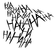 Vinyl Decal Truck Car Sticker Laptop Window  - DC Batman Joker Laugh HA HA HA