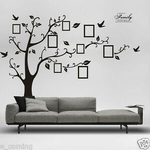 3D DIY Photo Tree PVC Decals Adhesive Wall Stickers Mural Art Room Bedroom Decor