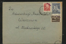 Poland  Groszy  overprinted  stamps  on cover         KL0304