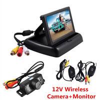 "4.3"" LCD TFT Car Backup Monitor + Wireless Rear View Reversing Parking HD Camera"