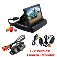 "4.3"" LCD TFT Car Backup Monitor + Wireless Rear View Reversing Parking HD Camera"