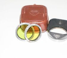 Rollei Rolleiflex Bay I Lens Hood, green and yellow filter kit with leather case