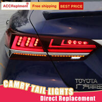 For Toyota Camry LED Taillights Assembly Dark LED Rear Lamps 2018-2020