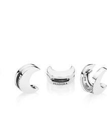 Pandora Sterling Silver Reflexions Moon Clip Charm 797552