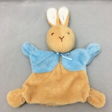 Beatrice Potter Peter Rabbit Blankie Security Baby Blanket Brown Eden Plush 8""
