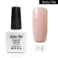BELLE FILLE Nail Art Soak Off UV LED Gel Polish Lamp Manicure 72 Color 10ml #P8
