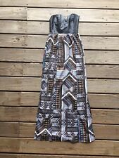 Ladakh Faux Leather Bodice Jigsaw Maxi Dress from Urban Outfitters $128, Sz 0
