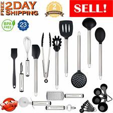 23PCS Kitchen Utensil Set Stainless Steel Non Stick Cooking Baking Measure Tools