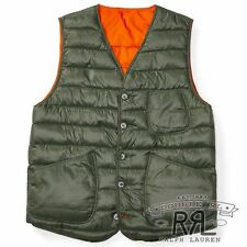 $390 RRL Ralph Lauren USA Sourced 750 Fill Power Down Reversible Vest- MEN- XL