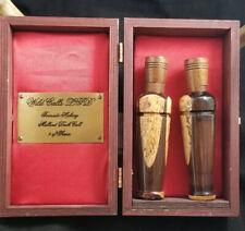 Vintage Wild Calls Ltd Limit Set Laminate Duck and Duck Call in Wooden Case 12