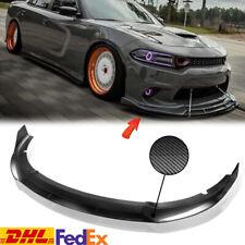 Front Bumper Lower Lip Splitter Spoiler Carbon Fiber For Dodge Charger SRT 15-Up