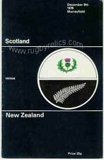 Scotland v New Zealand First Grand Slam tour for All Blacks 9 Dec 1978  RUGBY PR