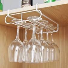Under Cabinet Wine Glass Rack Holder Stemware Metal Hanger Shelf Bar Kitchen
