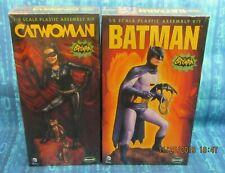 MOEBIUS 1966 BATMAN & CATWOMAN MODEL KITS   MINT FACTORY SHRINKWRAP SEALED  NEW