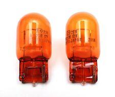 2x OEM Koito Japan WY21W 7443 Amber Turn Signal Light Bulb 12V 21W Corner Lamp