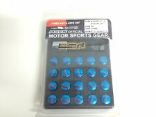 RAYS Style BLUE 17 Hex Lug Nuts and Lock Set M12 1.5 Alloy wheel Nuts TYPE R