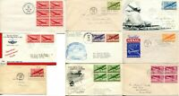 USA Airmail FDC First Day Issue #C25-C31 Cover Postage Stamps Cachet Collection