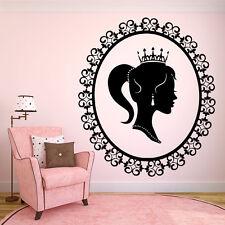 Vinyl Wall Decal Sticker Decor Room Nursery Princess Queen Girl Diadem F2127