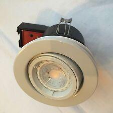 10 X bianco con resistenza al fuoco per GU10 Lampadina LED a Incasso Soffitto Downlight JCC Tilt