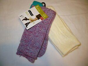 No Nonsense Women's Mid Calf Boot Socks Shoe Size 4-10 Multi Color 2 Pair