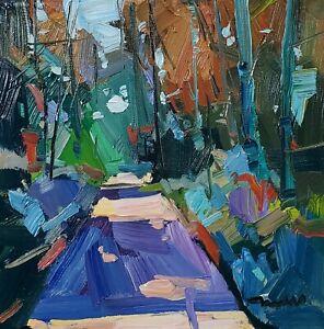 JOSE TRUJILLO Oil Painting IMPRESSIONISM LANDSCAPE CONTEMPORARY ORIGINAL ARTIST