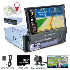 "1 DIN Single 7"" Touch Screen Car MP5 GPS Player Bluetooth Radio Camera Sat NAV"