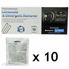 HOTPOINT Dishwasher LIMESCALE DESCALER Detergent Remover 10 X 50g 3in1 Sachets