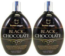 2 Black Chocolate by Brown Sugar Tan Inc 200x Black Bronzer Tanning lotion