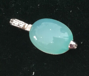 chalcedony gemstone 925 silver jewelry pendant