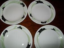 CORELLE BLACK ORCHID SET 4 DESSERT PLATES