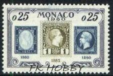 Monaco 1960 Mi 641 ** 75 years of a Postage Stamp in Monaco Briefmarken