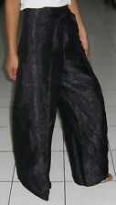 Hippy Fishermans Drive in Pants / Authentic / Thai Silk / Black