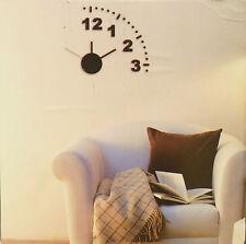 Hommy DIY Modern Room Interior Decoration Wall Clock - Number & Dot - Black