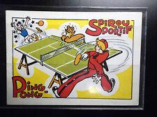 Rare ancienne carte postale Spirou Ping Pong PARFAIT ETAT