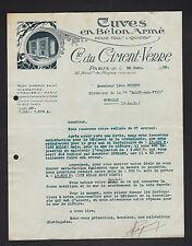 """PARIS (XII°) CUVES en BETON Armé pour Liquides """"Cie du CIMENT-VERRE"""" en 1928"""