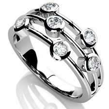 Special Price..!! 1.20Ct F /VS Round Diamond Raindance Ring in 18k white gold