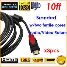 YellowKnife 3 lots Ultra 10ft HDMI 1.4 w/Cores Support Samsung TV & Apple Laptop