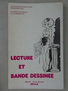 Lecture et bande dessinée Colloque int. éducation et BD 1977 édisud